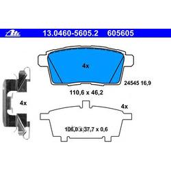 Комплект тормозных колодок, дисковый тормоз (Ate) 13046056052