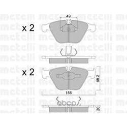 Комплект тормозных колодок, дисковый тормоз (Metelli) 2205580