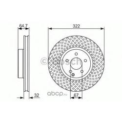 Тормозной диск (Bosch) 0986479652