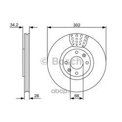 Тормозной диск (Bosch) 0986479548