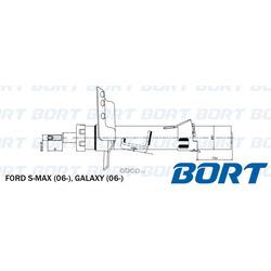 Стойка амортизационная газомасляная передняя правая (BORT) G22252053R