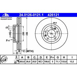 Тормозной диск (Ate) 24012601211