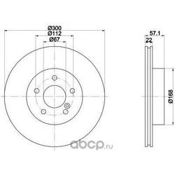 Диск тормозной TEXTAR (Textar) 92163603