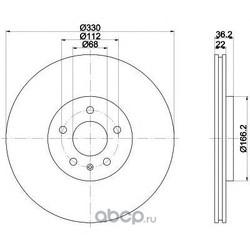 Тормозной диск (Mintex) MDC2004