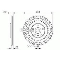 Керамический тормозной диск (Bosch) 0986479750