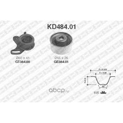 Комплект ремня ГРМ (NTN-SNR) KD48401