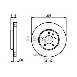 Диск тормозной вентилируемый (Bosch) 0986479267