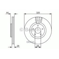 Тормозной диск (Bosch) 0986479679