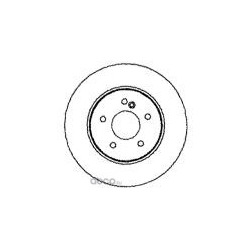 Тормозной диск (Mapco) 15792