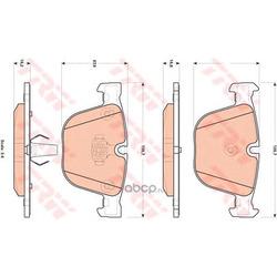 Комплект тормозных колодок, дисковый тормоз (TRW/Lucas) GDB1892