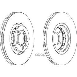 Тормозной диск (Ferodo) DDF1156