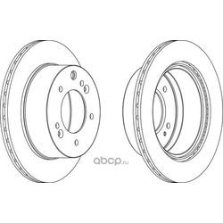 Тормозной диск (Ferodo) DDF1543C1