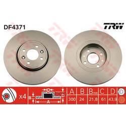 Тормозной диск (TRW/Lucas) DF4371