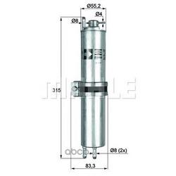 Топливный фильтр (Mahle/Knecht) KLH12
