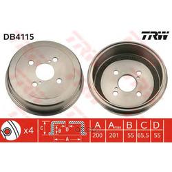 Барабан тормозной (TRW/Lucas) DB4115