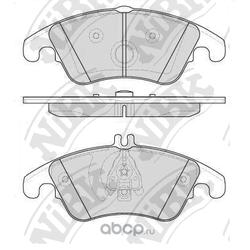 Колодки тормозные дисковые (NiBK) PN0395