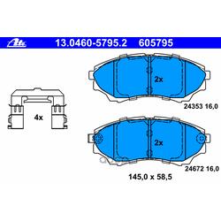 Комплект тормозных колодок, дисковый тормоз (Ate) 13046057952