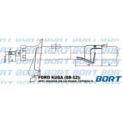Стойка амортизационная газомасляная передняя левая (BORT) G22252065L
