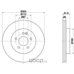 Диск тормозной TEXTAR (Textar) 92089905