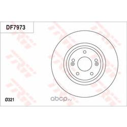 Тормозной диск (TRW/Lucas) DF7973