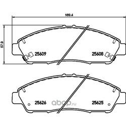 Комплект тормозных колодок, дисковый тормоз (Hella) 8DB355020211