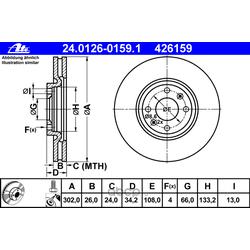 Тормозной диск (Ate) 24012601591