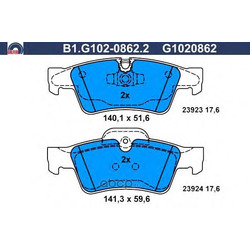Комплект тормозных колодок (GALFER) B1G10208622