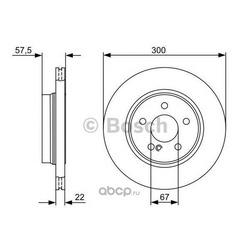 Тормозной диск (Bosch) 0986479411