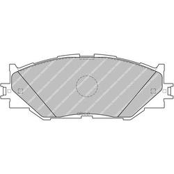 Комплект тормозных колодок, дисковый тормоз (Ferodo) FDB1936