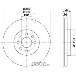 Тормозной диск (Mintex) MDC2515