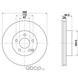 Тормозной диск (Mintex) MDC2014