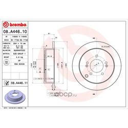 Тормозной диск (Brembo) 08A44611