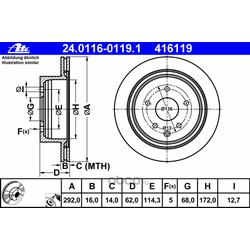 Тормозной диск (Ate) 24011601191