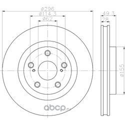 Тормозной диск (Hella) 8DD355118561