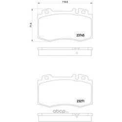Колодки тормозные дисковые TEXTAR (Textar) 2374502