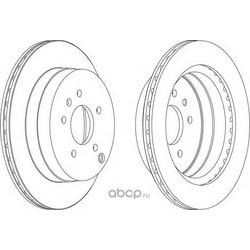Тормозной диск (Ferodo) DDF1660