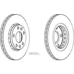 Тормозной диск (Ferodo) DDF1728