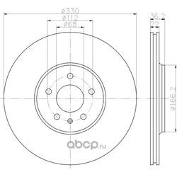 Тормозной диск (Hella) 8DD355128741