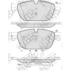 Колодки тормозные дисковые (NiBK) PN42001