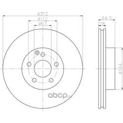 Тормозной диск (Hella) 8DD355108821