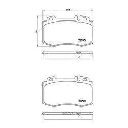 Комплект тормозных колодок, дисковый тормоз (Brembo) P50053