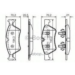 Колодки тормозные дисковые, комплект (Bosch) 0986494165