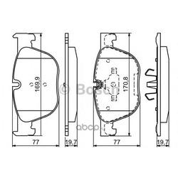 Ремонтный комплект тормозных накладок (Bosch) 0986494191