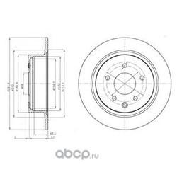 Тормозной диск (Delphi) BG4108