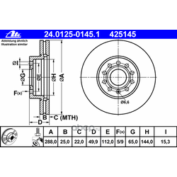 Тормозной диск (Ate) 24012501451