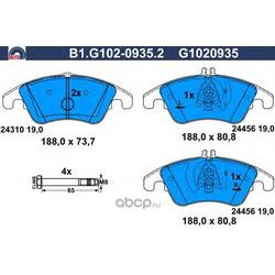 Комплект тормозных колодок (GALFER) B1G10209352