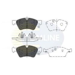 Комплект тормозных колодок, дисковый тормоз (Comline) CBP06060