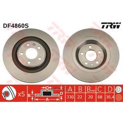 Тормозной диск (TRW/Lucas) DF4860S
