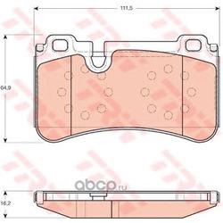 Комплект тормозных колодок, дисковый тормоз (TRW/Lucas) GDB1711