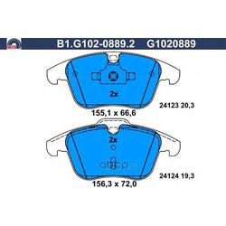 Комплект тормозных колодок (GALFER) B1G10208892